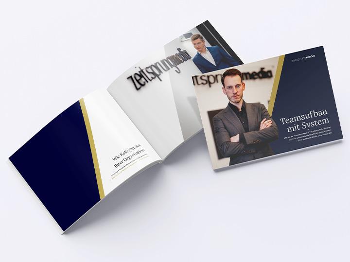 dossier, report, broschüre zeitsprung media